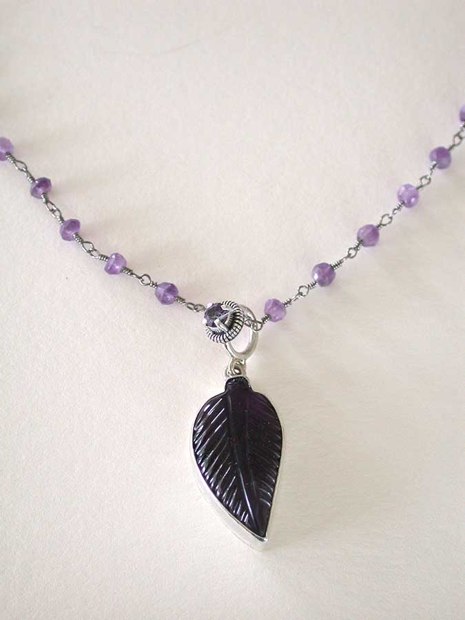 Amy Kahn Russell Online Trunk Show: Carved Amethyst Necklace | Rendezvous Gallery