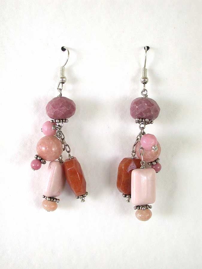 Amy Kahn Russell Online Trunk Show: Peach Aventurine Earrings | Rendezvous Gallery