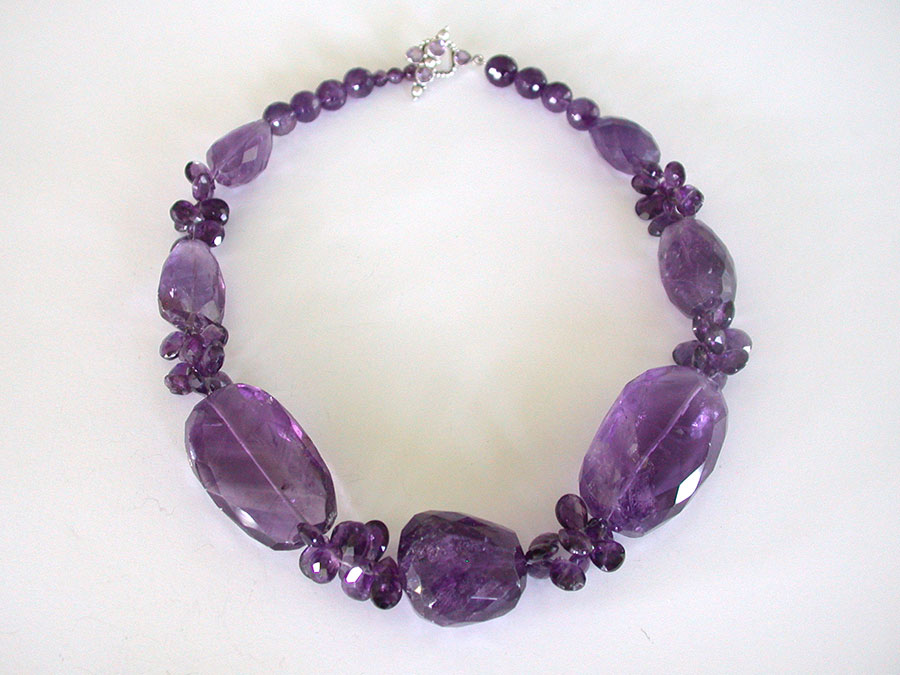 Amy Kahn Russell Online Trunk Show: Faceted Amethyst Necklace | Rendezvous Gallery