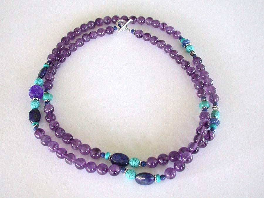 Amy Kahn Russell Online Trunk Show: Amethyst, Lapis Lazuli & Turquoise Necklace | Rendezvous Gallery