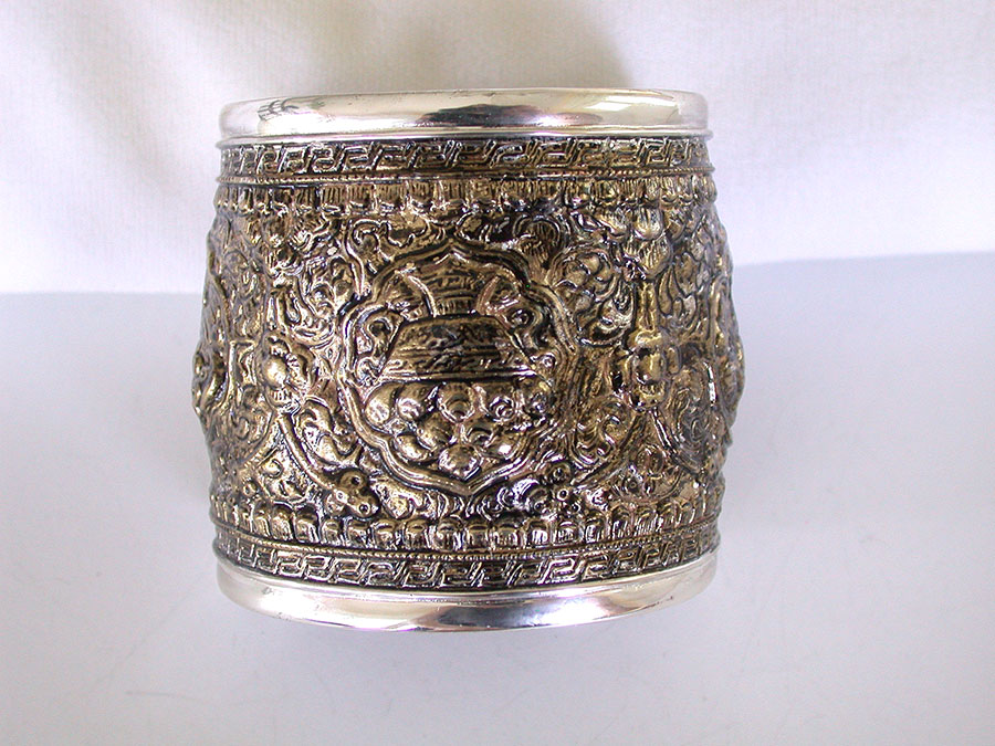 Amy Kahn Russell Online Trunk Show: Decorative Bronze & Sterling Silver Cuff Bracelet | Rendezvous Gallery