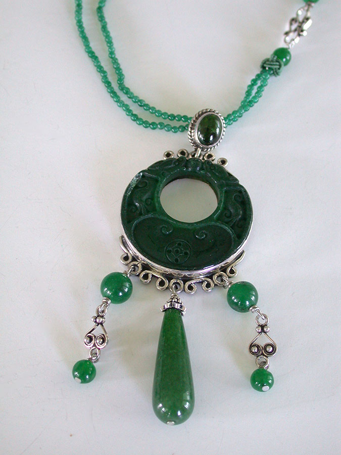 Amy Kahn Russell Online Trunk Show: Green Onyx, Green Quartz & Green Agate Necklace | Rendezvous Gallery