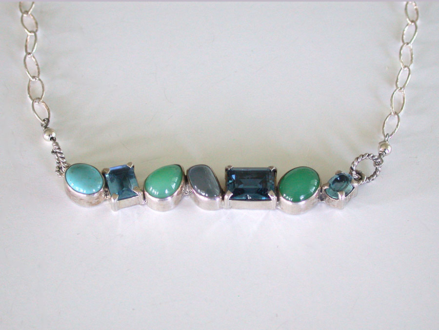 Amy Kahn Russell Online Trunk Show: Blue Topaz, Turquoise & Chrysoprase Necklace | Rendezvous Gallery