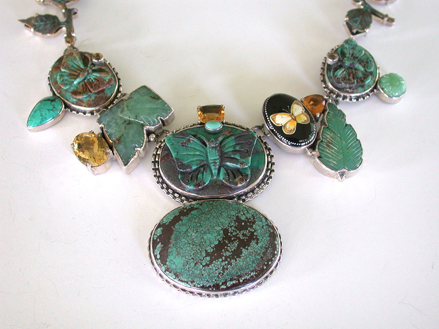 Amy Kahn Russell Online Trunk Show: Carved Turquoise, Chrysoprase & Citrine Necklace | Rendezvous Gallery