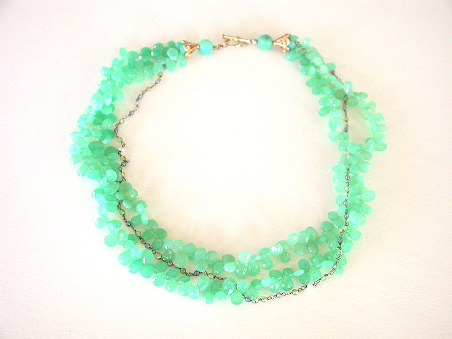 Amy Kahn Russell Online Trunk Show: Chrysoprase Necklace | Rendezvous Gallery