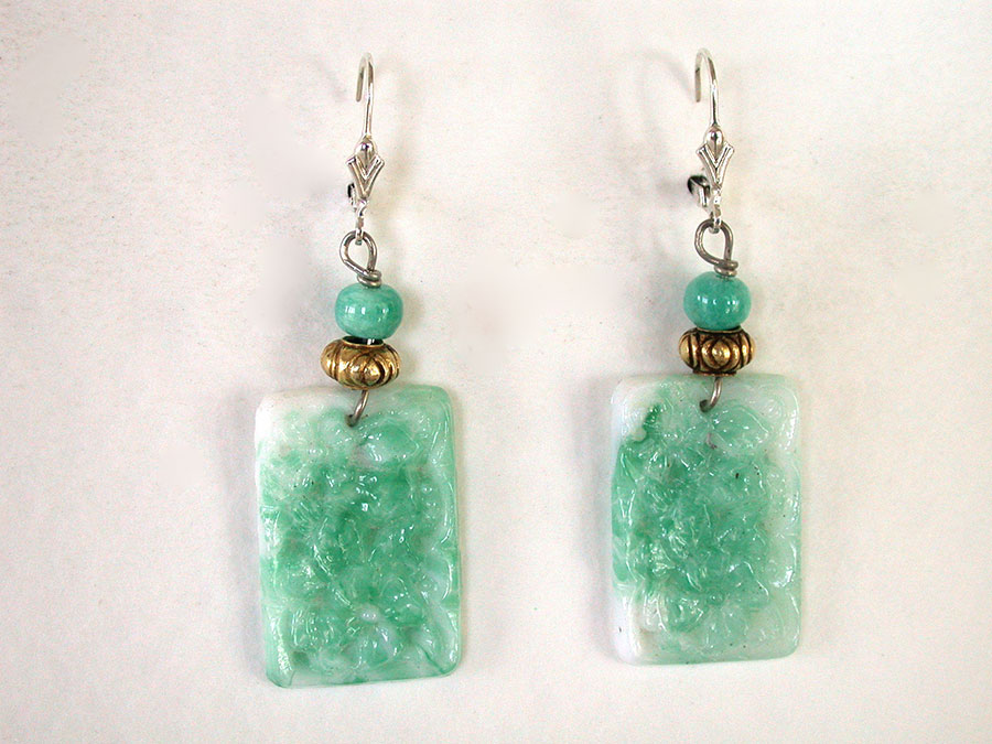 Amy Kahn Russell Online Trunk Show: Hand Carved Amazonite Earrings | Rendezvous Gallery