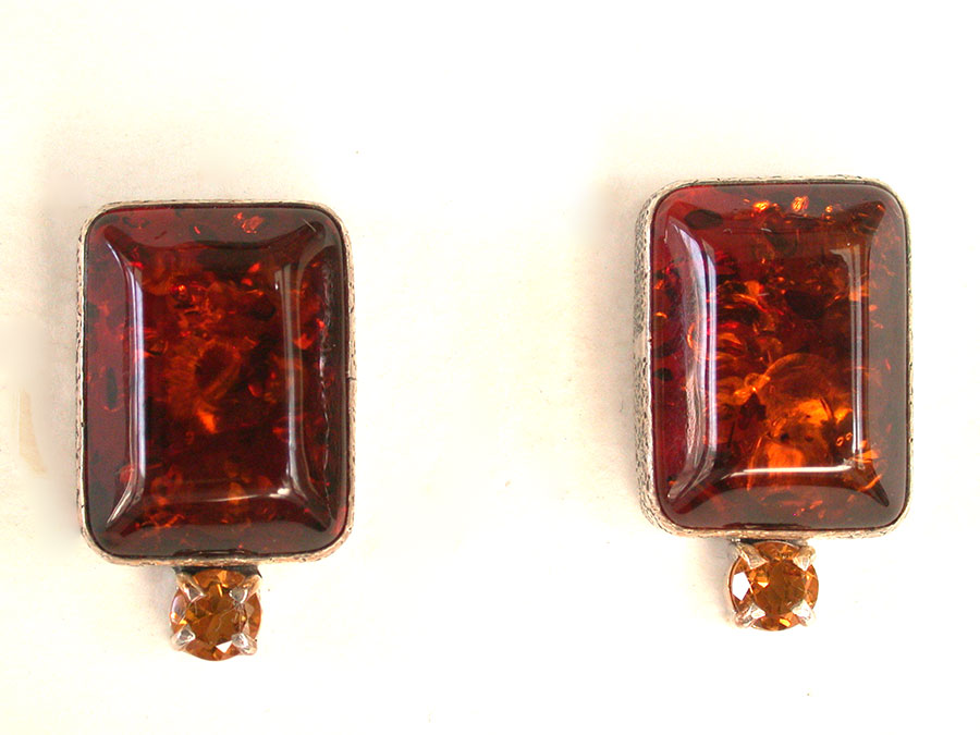 Amy Kahn Russell Online Trunk Show: Baltic Amber & Citrine Post Earrings | Rendezvous Gallery
