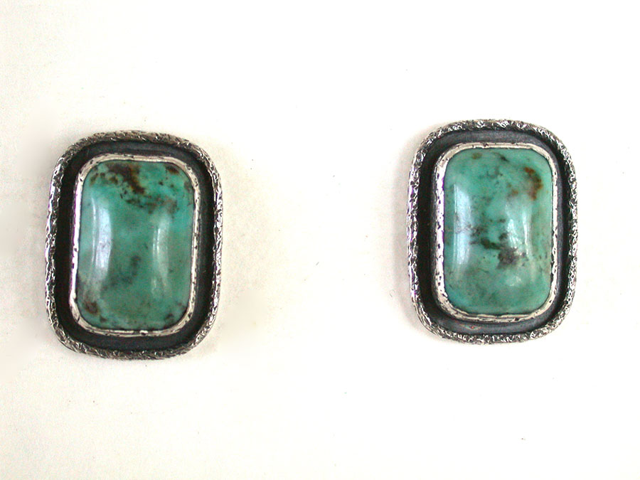 Amy Kahn Russell Online Trunk Show: African Turquoise Post Earrings | Rendezvous Gallery