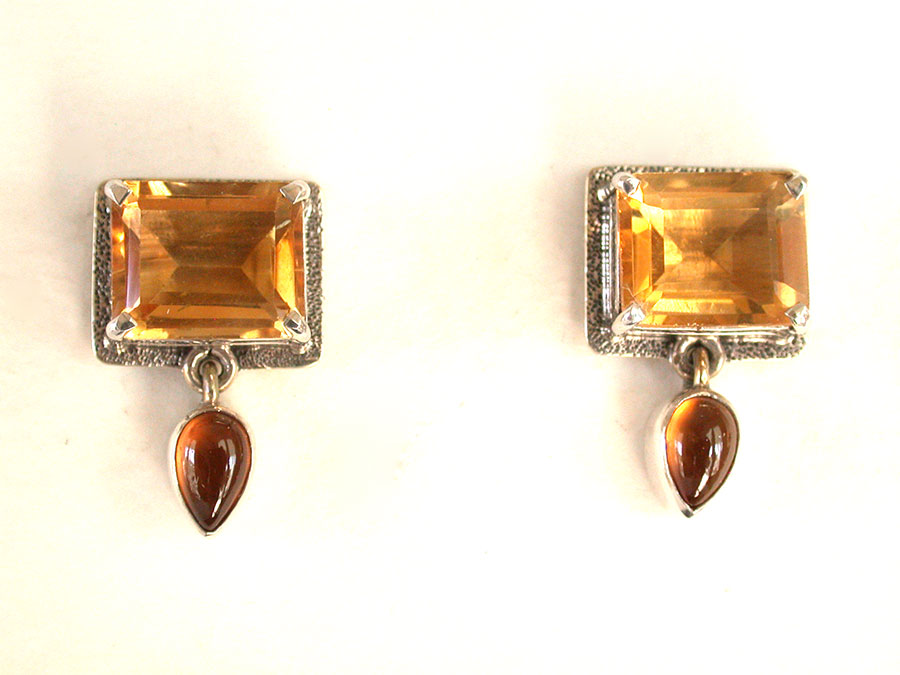 Amy Kahn Russell Online Trunk Show: Citrine & Hessonite Post Earrings | Rendezvous Gallery