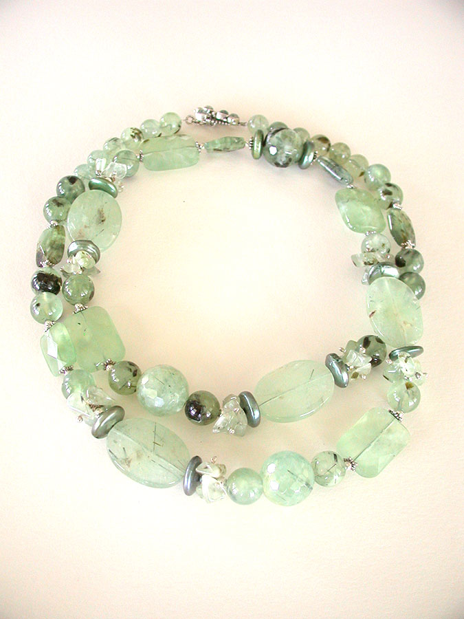 Amy Kahn Russell Online Trunk Show: Prehnite Necklace | Rendezvous Gallery