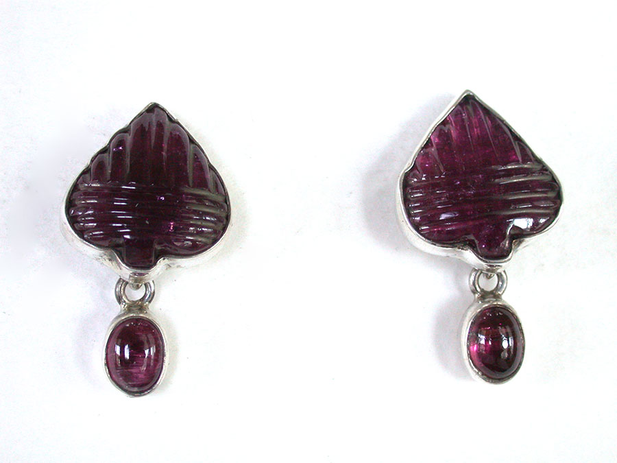 Amy Kahn Russell Online Trunk Show: Hand Carved Tourmaline Post Earrings | Rendezvous Gallery