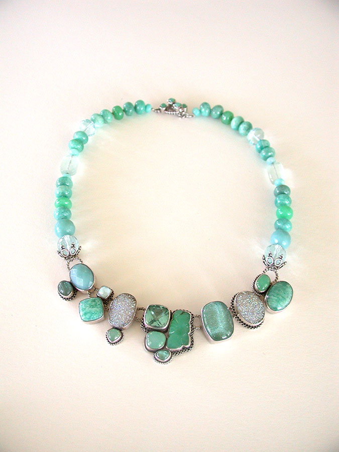 Amy Kahn Russell Online Trunk Show: Chrysoprase, Amazonite, Drusy & Quartz Necklace | Rendezvous Gallery