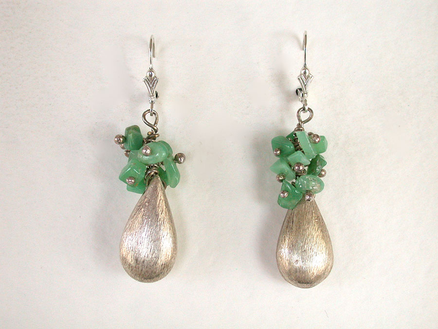 Amy Kahn Russell Online Trunk Show: Chrysoprase & Sterling Silver Earrings | Rendezvous Gallery