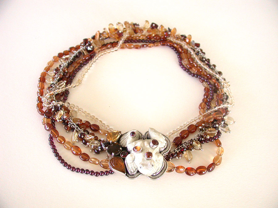 Amy Kahn Russell Online Trunk Show: Carved Bone, Carnelian, Hessonite & Citrine Necklace | Rendezvous Gallery