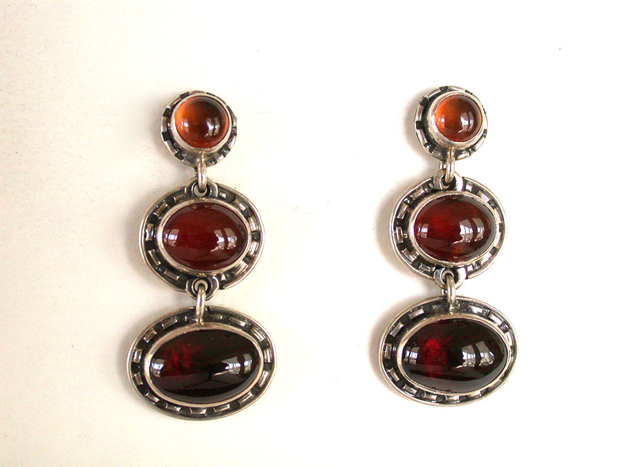 Amy Kahn Russell Online Trunk Show: Amber & Carnelian Post Earrings | Rendezvous Gallery