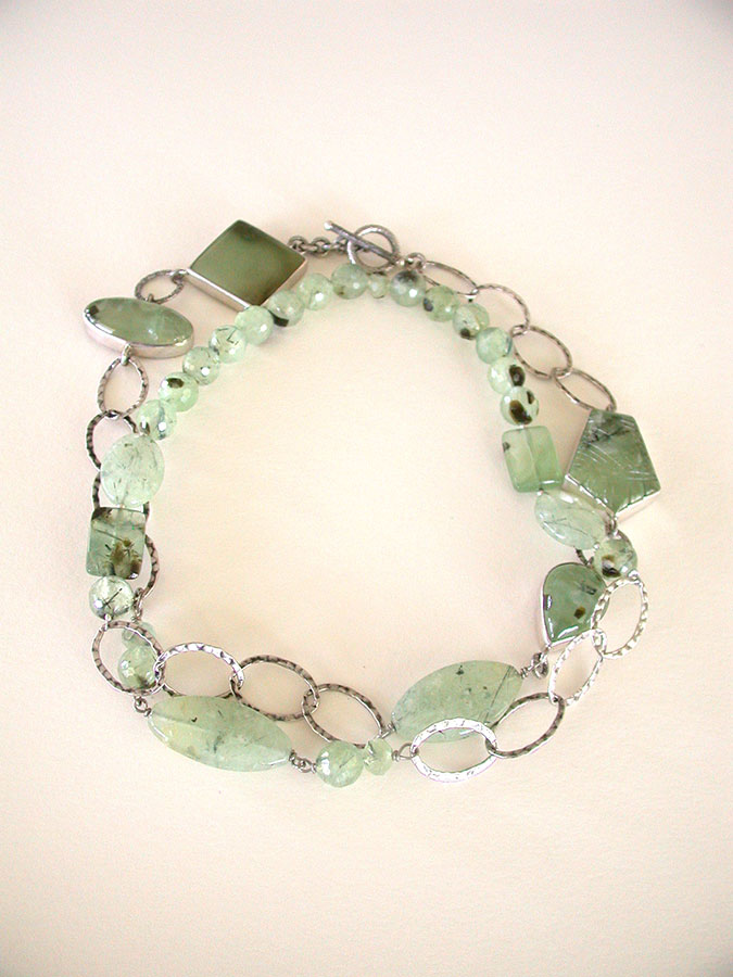 Amy Kahn Russell Online Trunk Show: Prehnite & Sterling Silver Necklace | Rendezvous Gallery