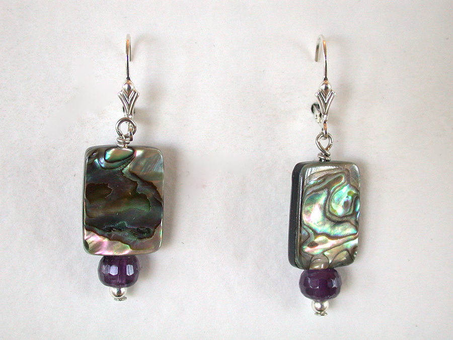 Amy Kahn Russell Online Trunk Show: Abalone & Amethyst Earrings | Rendezvous Gallery