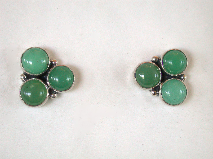 Amy Kahn Russell Online Trunk Show: Chrysoprase Post Earrings | Rendezvous Gallery