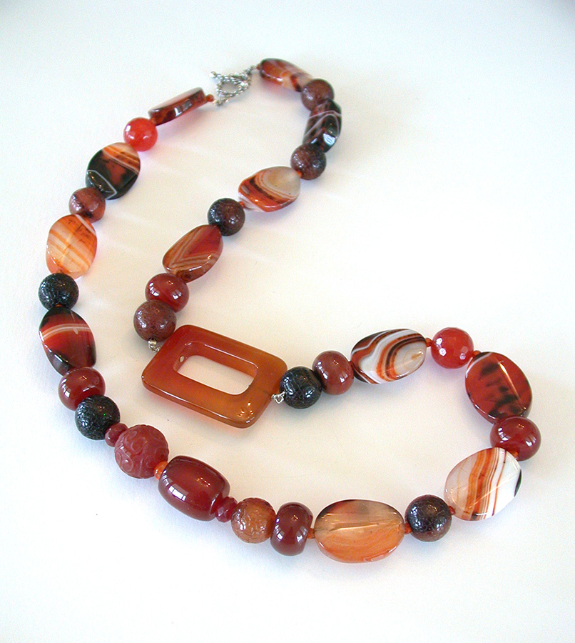 Amy Kahn Russell Online Trunk Show: Carnelian Necklace | Rendezvous Gallery
