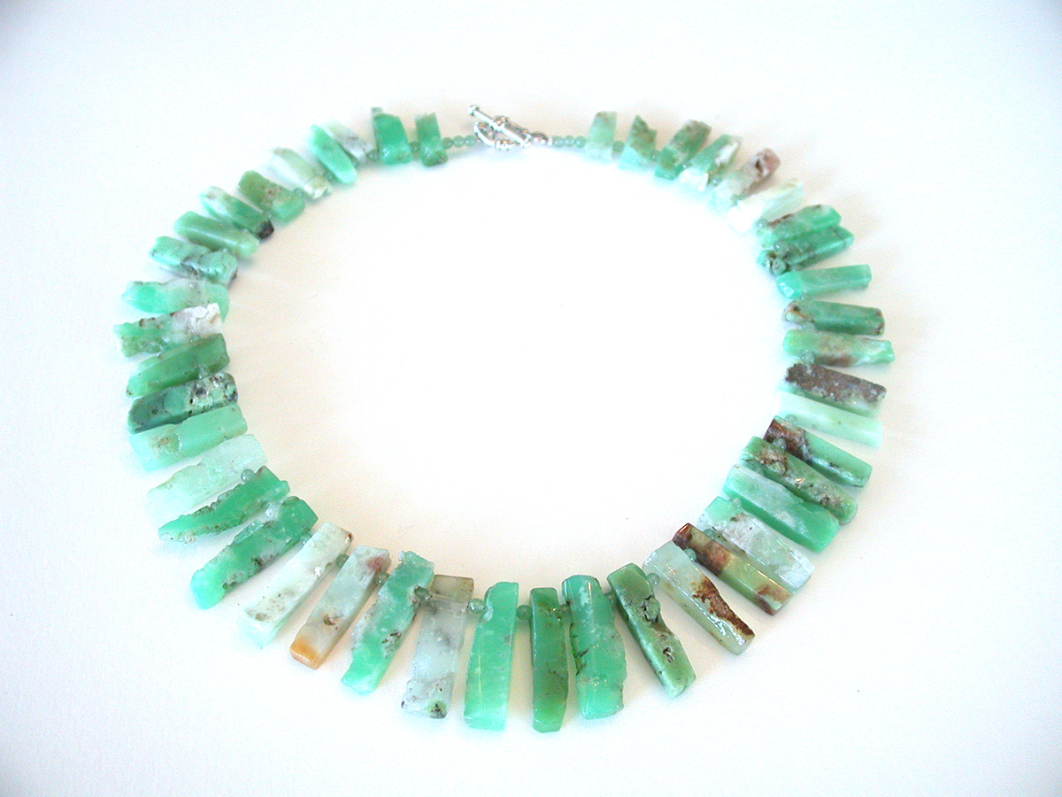 Amy Kahn Russell Online Trunk Show: Chrysoprase & Glass Bead Necklace | Rendezvous Gallery