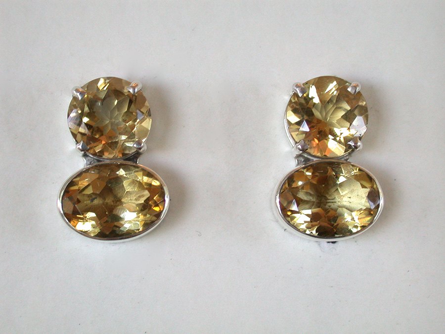 Amy Kahn Russell Online Trunk Show: Slade Pyrite & Bronze Clip Earrings | Rendezvous Gallery