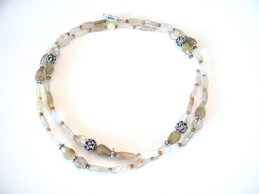 Amy Kahn Russell Online Trunk Show: Rutilated Quartz & Sterling Silver Necklace | Rendezvous Gallery