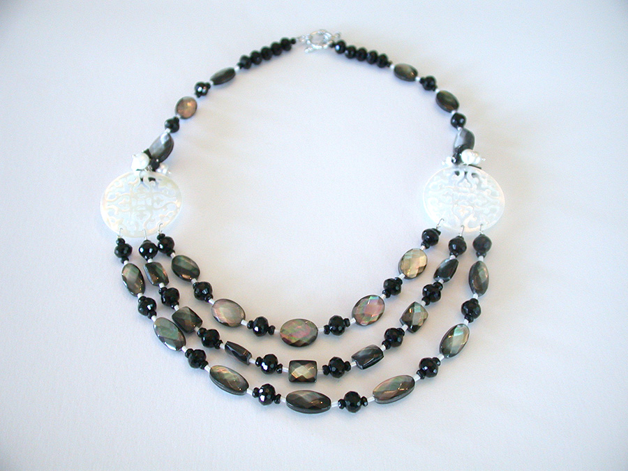 Amy Kahn Russell Online Trunk Show: Black Onyx & Mother of Pearl Necklace | Rendezvous Gallery