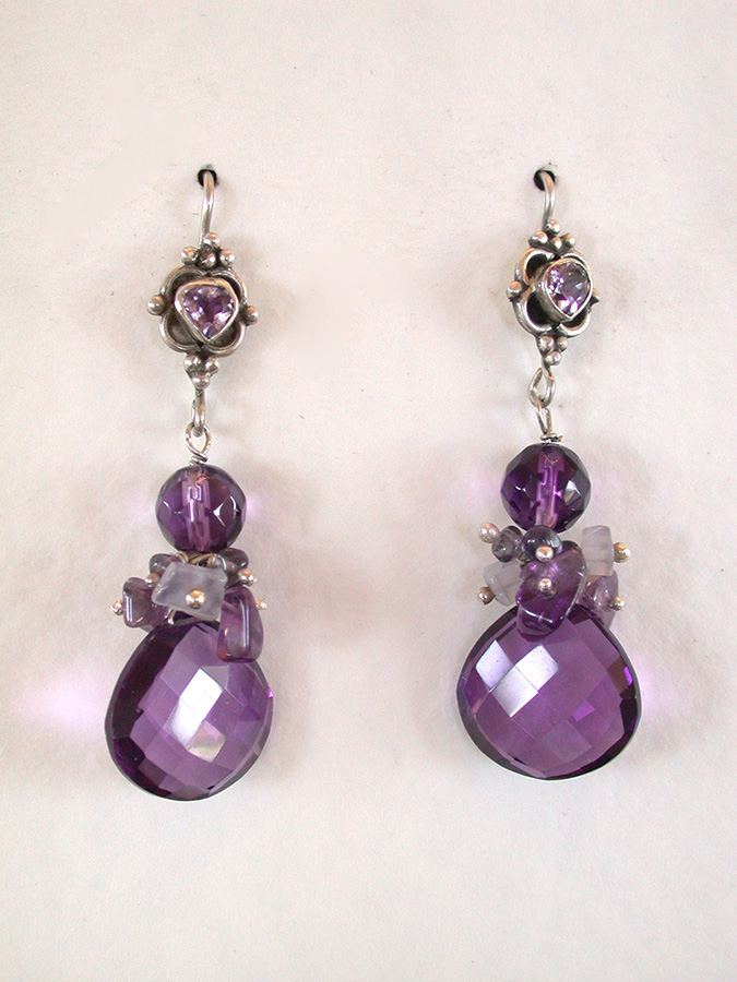 Amy Kahn Russell Online Trunk Show: Amethyst & Chalcedony Earrings | Rendezvous Gallery