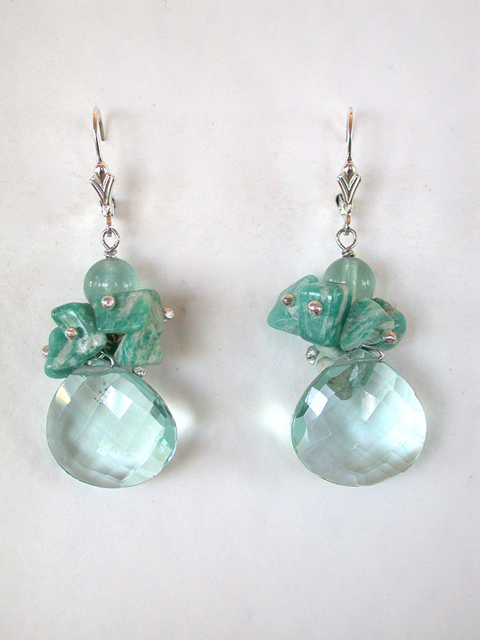 Amy Kahn Russell Online Trunk Show: Fluorite, Amazonite & Quartz Earrings | Rendezvous Gallery