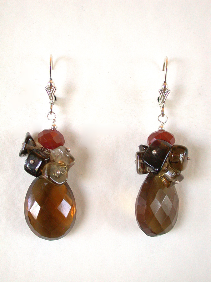Amy Kahn Russell Online Trunk Show: Smoky Topaz & Quartz Earrings | Rendezvous Gallery