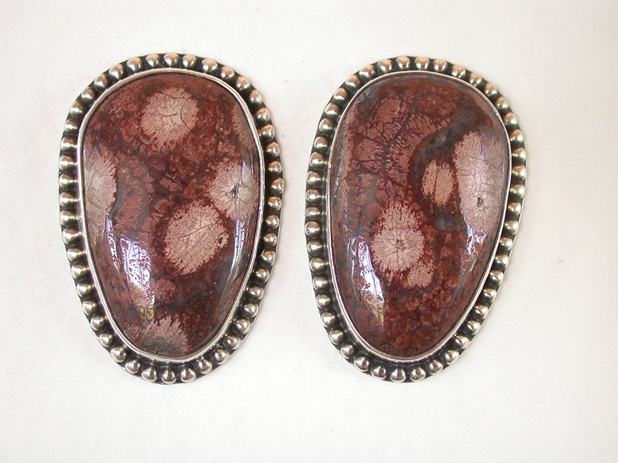 Amy Kahn Russell Online Trunk Show: Fancy Jasper Clip Earrings | Rendezvous Gallery