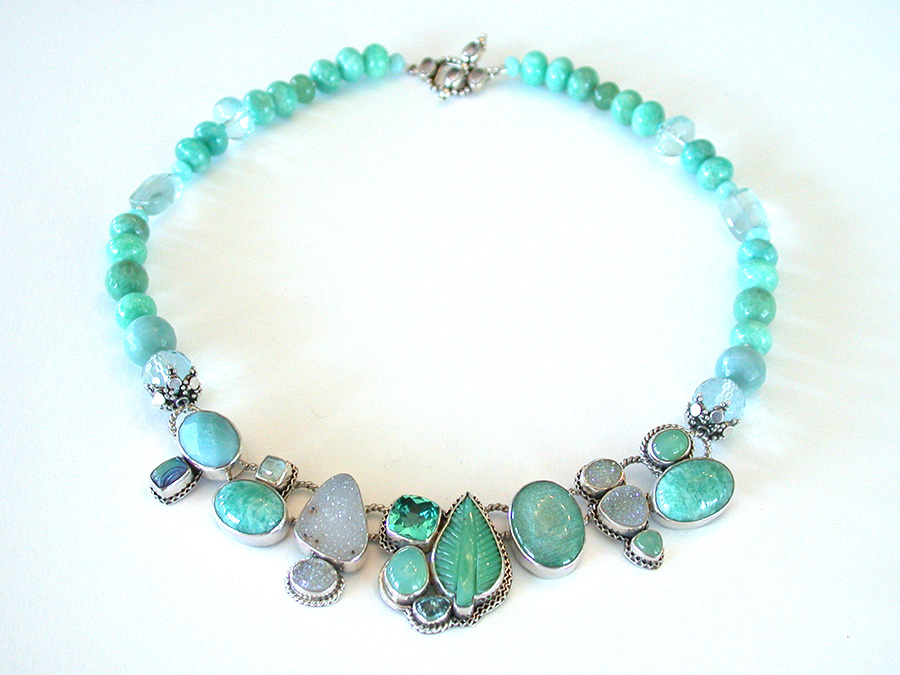 Amy Kahn Russell Online Trunk Show: Chrysoprase, Amazonite, Drusy & Apatite Necklace | Rendezvous Gallery