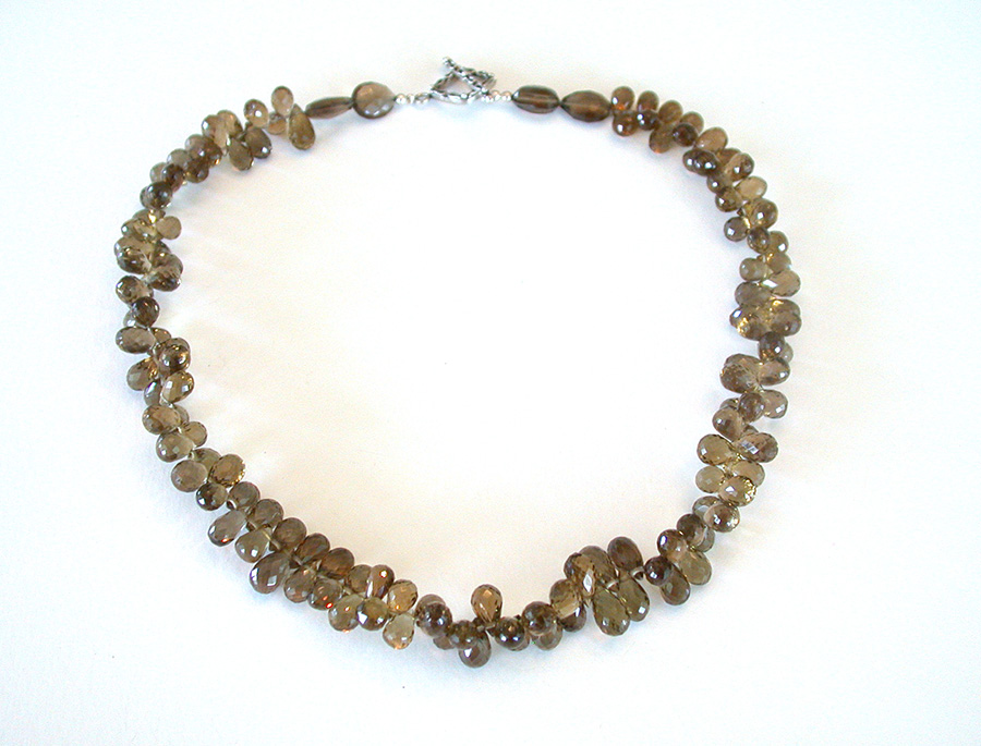 Amy Kahn Russell Online Trunk Show: Faceted Smokey Quartz Necklace | Rendezvous Gallery