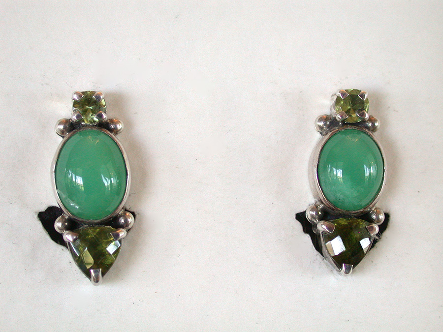 Amy Kahn Russell Online Trunk Show: Peridot & Chrysoprase Clip Earrings | Rendezvous Gallery