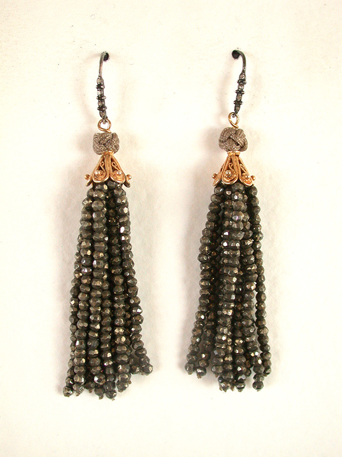 Amy Kahn Russell Online Trunk Show: Faceted Pyrite Earrings | Rendezvous Gallery
