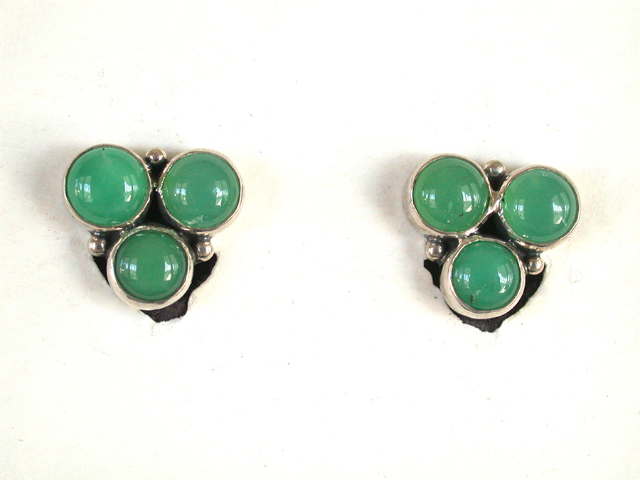 Amy Kahn Russell Online Trunk Show: Quartz, Chrysoprase Clip Earrings | Rendezvous Gallery