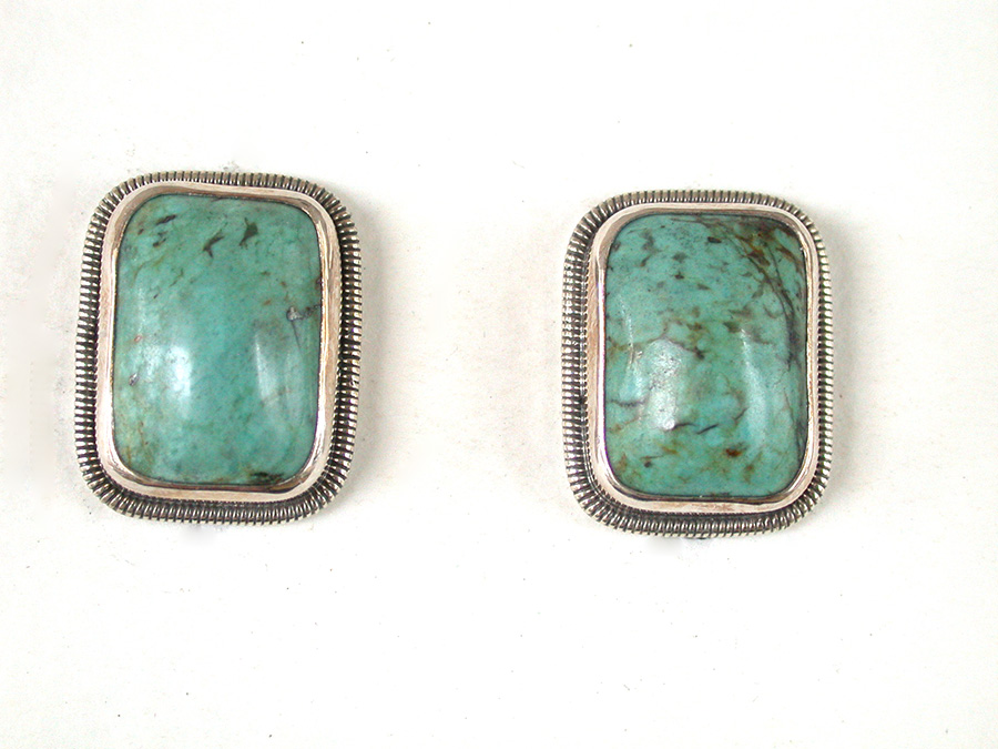 Amy Kahn Russell Online Trunk Show: Quartz, Turquoise Clip Earrings | Rendezvous Gallery