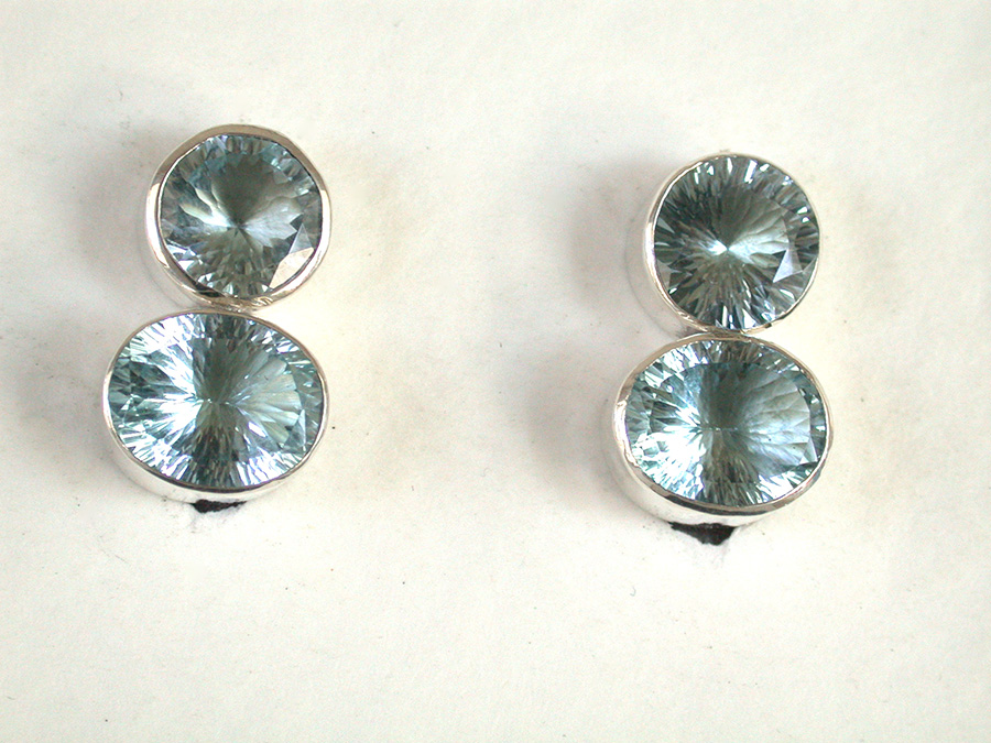 Amy Kahn Russell Online Trunk Show: Blue Topaz Clip Earrings | Rendezvous Gallery