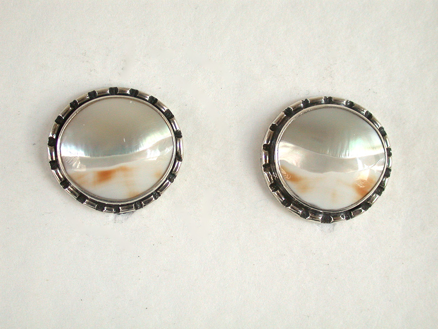 Amy Kahn Russell Online Trunk Show: Mother of Pearl Clip Earrings | Rendezvous Gallery