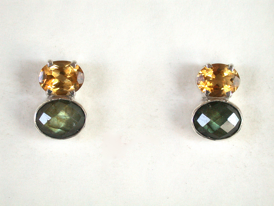 Amy Kahn Russell Online Trunk Show: Quartz, Citrine & Labradorite Post Earrings | Rendezvous Gallery