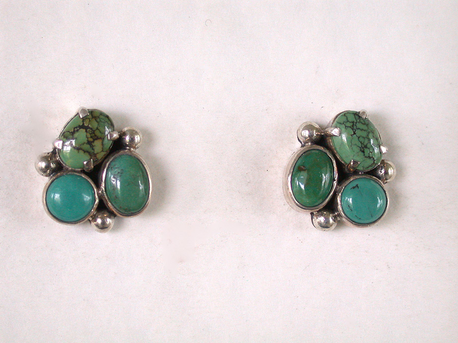 Amy Kahn Russell Online Trunk Show: Turquoise Post Earrings | Rendezvous Gallery