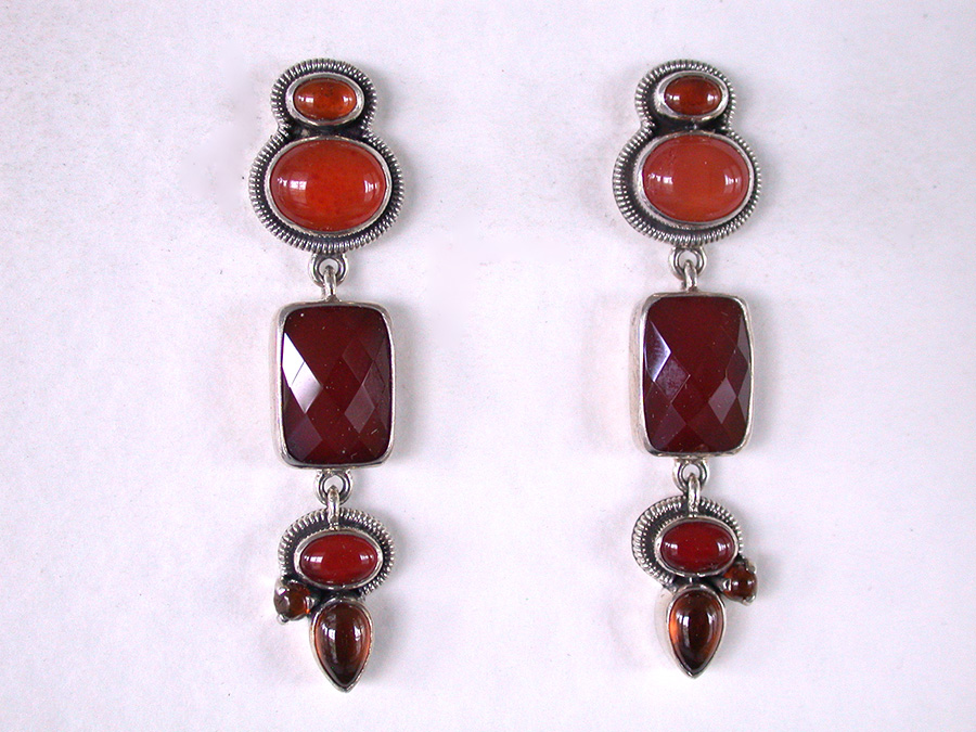 Amy Kahn Russell Online Trunk Show: Hessonite & Carnelian Post Earrings | Rendezvous Gallery
