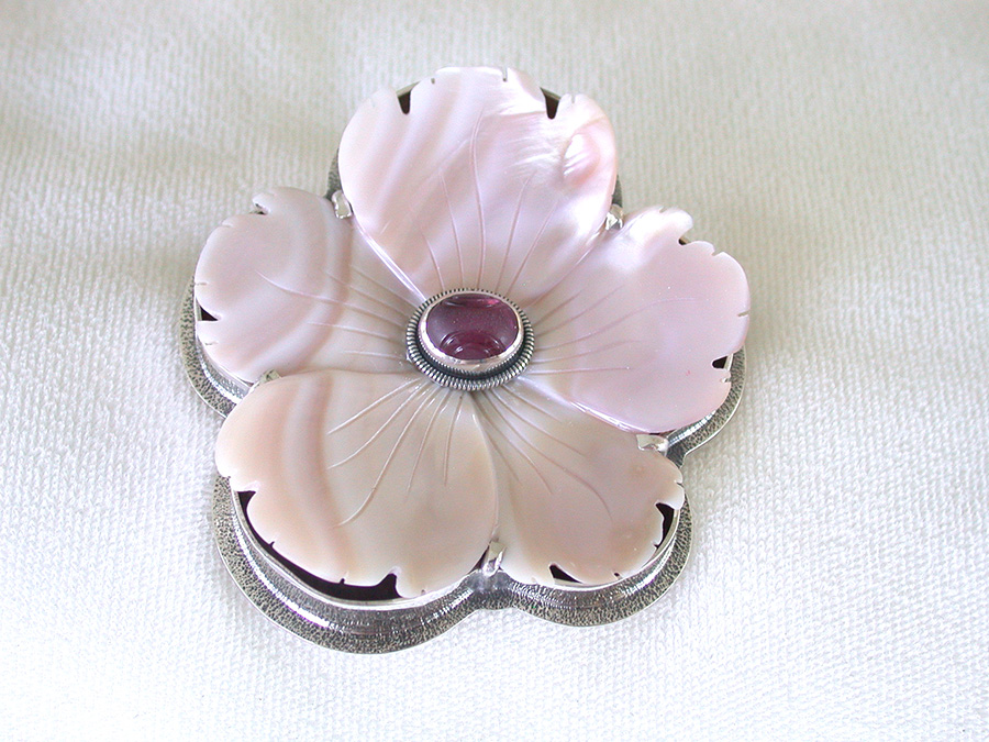 Amy Kahn Russell Online Trunk Show: Hand Carved & Smooth Rhodocrosite Pin/Pendant | Rendezvous Gallery