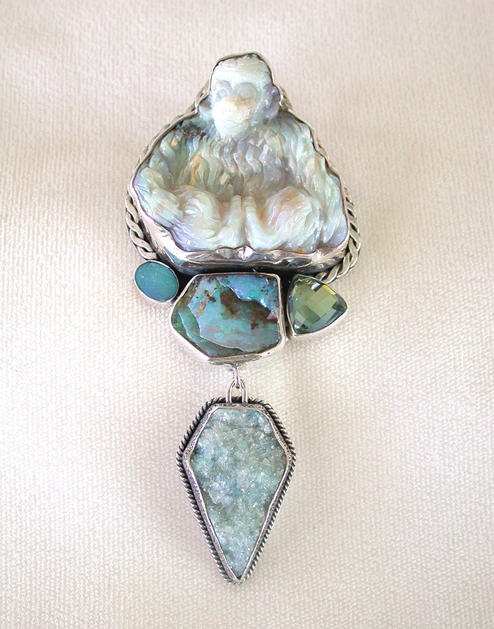 Amy Kahn Russell Online Trunk Show: Carved Opal, Peruvian Opal, Opal, & Drusy Pin/Pendant | Rendezvous Gallery