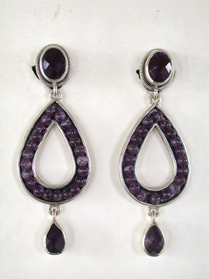 Amy Kahn Russell Online Trunk Show: Amethyst Clip Earrings | Rendezvous Gallery