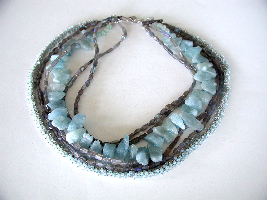 Amy Kahn Russell Online Trunk Show: Labradorite & Aquamarine Necklace  | Rendezvous Gallery