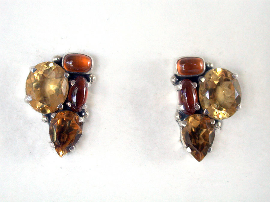 Amy Kahn Russell Online Trunk Show: Citrine & Hessonite Clip Earrings | Rendezvous Gallery