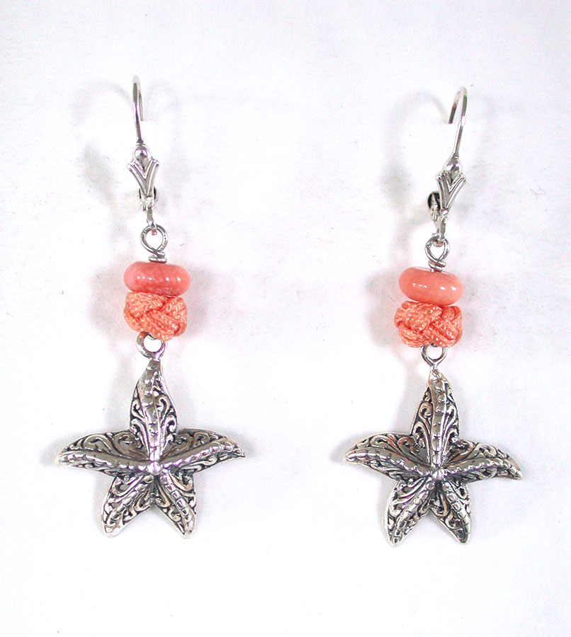 Amy Kahn Russell Online Trunk Show: Coral & Sterling Silver Earrings | Rendezvous Gallery