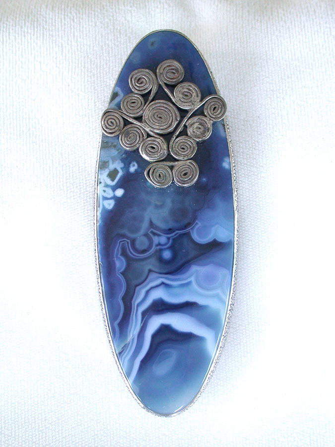 Amy Kahn Russell Online Trunk Show: Agate Pin/Pendant | Rendezvous Gallery