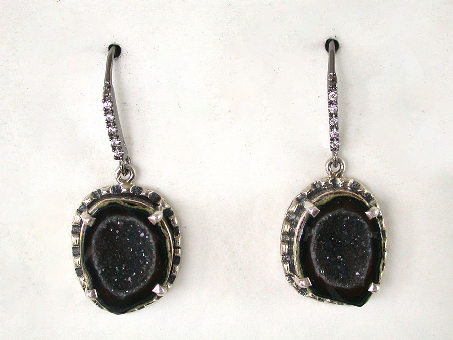 Amy Kahn Russell Online Trunk Show: Geode Drusy & Pave Crystal Earrings | Rendezvous Gallery